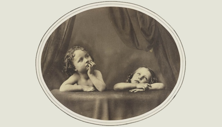 Oscar Gustave Rejlander artist portrait Non Angeli sed Angli, a study of the Sistine Madonna, 1857