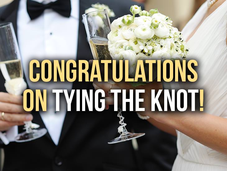 Congratulations On Tying The Knot!