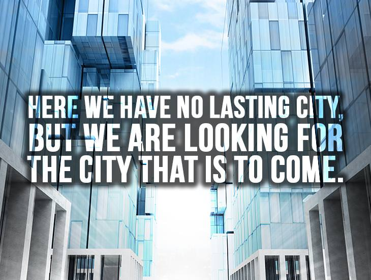 Here We Have No Lasting City