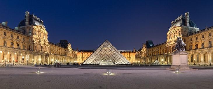I.M Pei, Pyramid, Louvre, museum, art, masterpiece, statue, painting, paris, mona lisa,