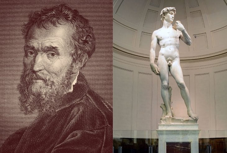 best sculptors and their masterpieces Michelangelo (1475-1564) and David (1504)
