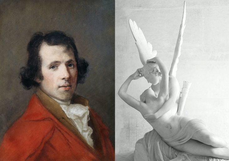 best sculptors and their masterpieces Antonio Canova (1757-1822) and Psyche Revived by Cupid's Kiss (1787)