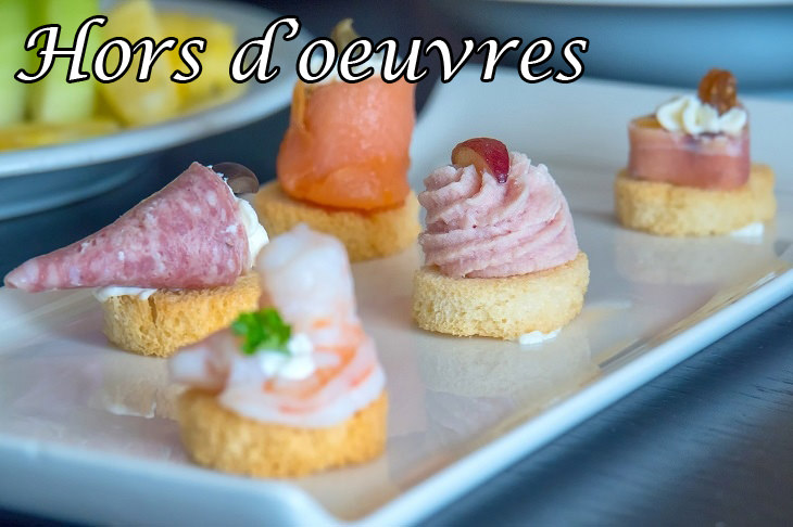 French words: hors d'oeuvre