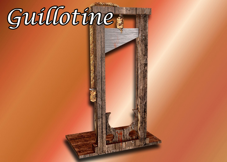 French words: guillotine
