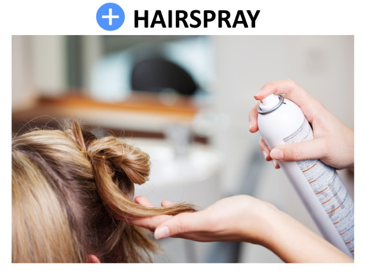 ink removal tips Hairspray