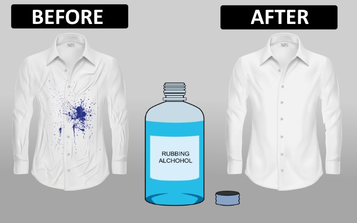 ink removal tips  Rubbing Alcohol
