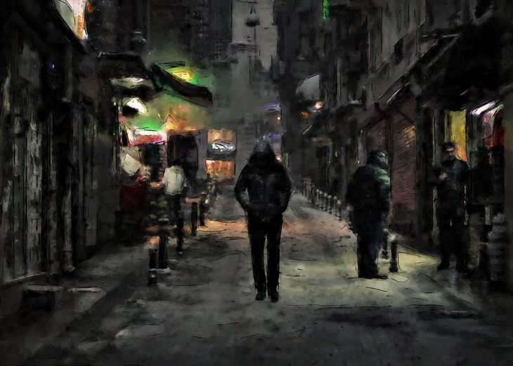 Night owls: alone in the night