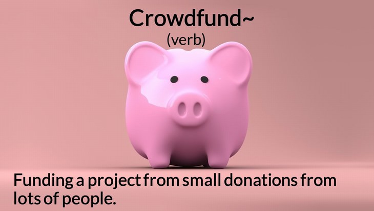 new English words crowdfund