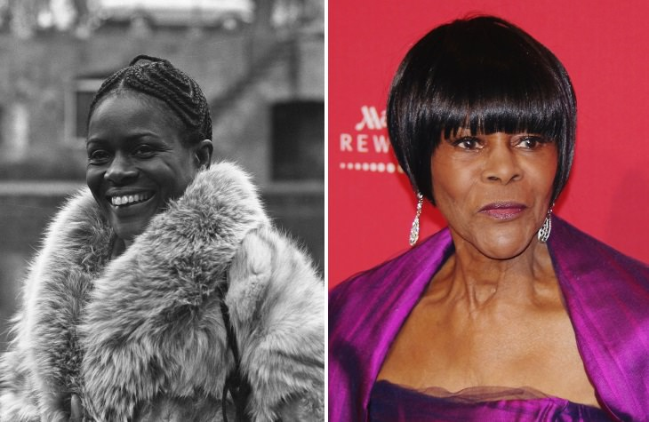 celebrities past their 80s Cicely Tyson (1973 vs 2012)