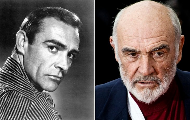celebrities past their 80s Sean Connery (1960's vs 2008)