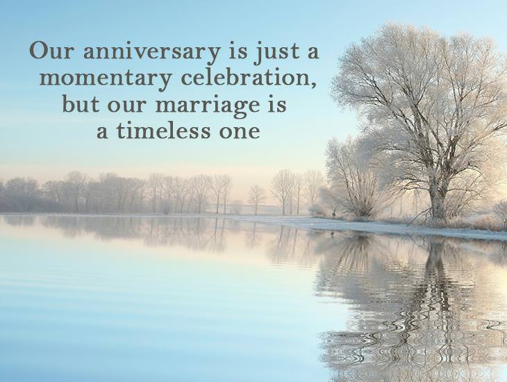 Our Anniversary Is Just A Momentary Celebration