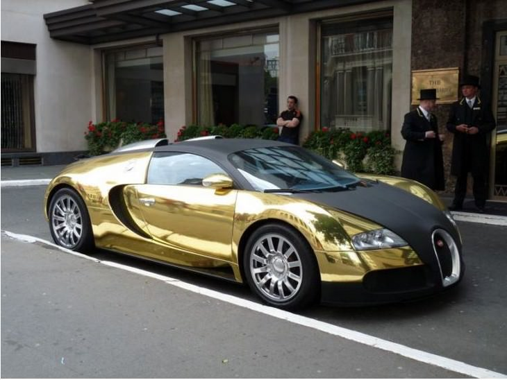 most expensive items gold plated bugatti