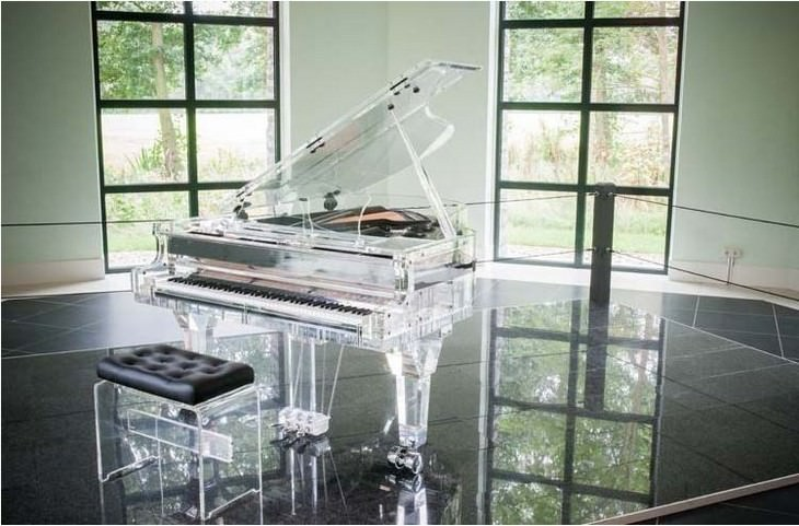 most expensive items crystal piano