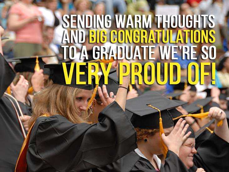 Sending Warm Thoughts And Big Congratulations