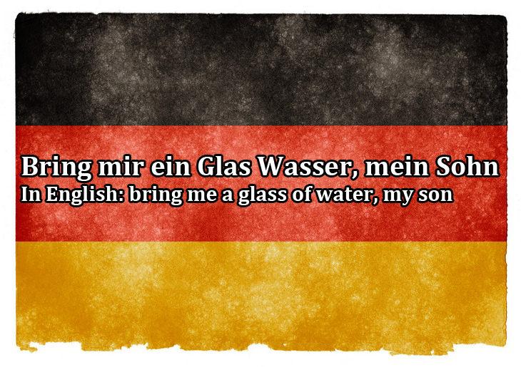 Closest languages to English: German
