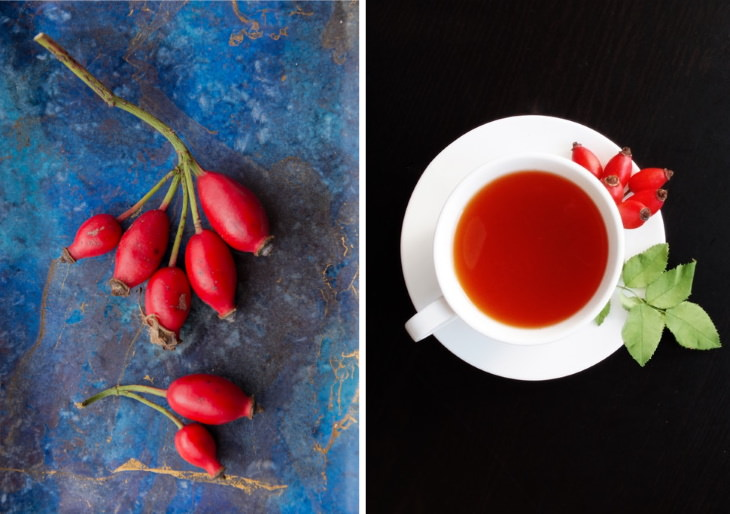 teas to lower inflammation Rosehip Tea (Rosa canina)