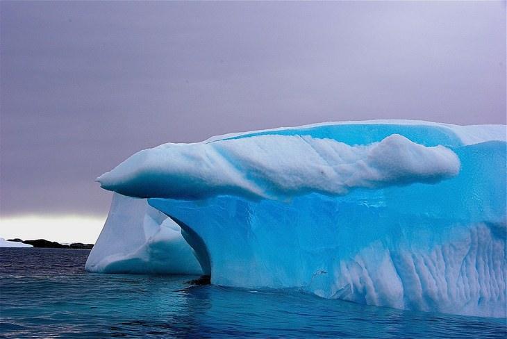 Antarctica: blue glacier