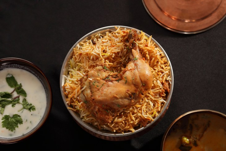 Chicken recipes: biryani