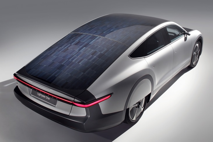 Solar car: closeup view