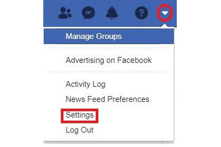 Delete Facebook: settings