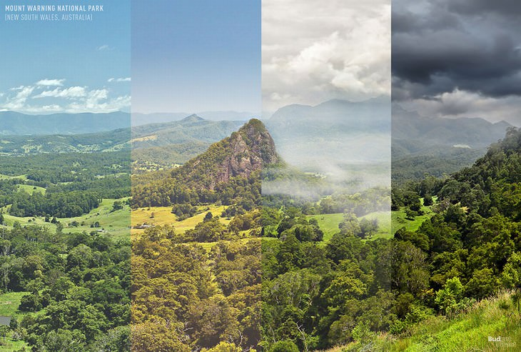 throughout the seasons places in the world Wollumbin National Park, New South Wales, Australia