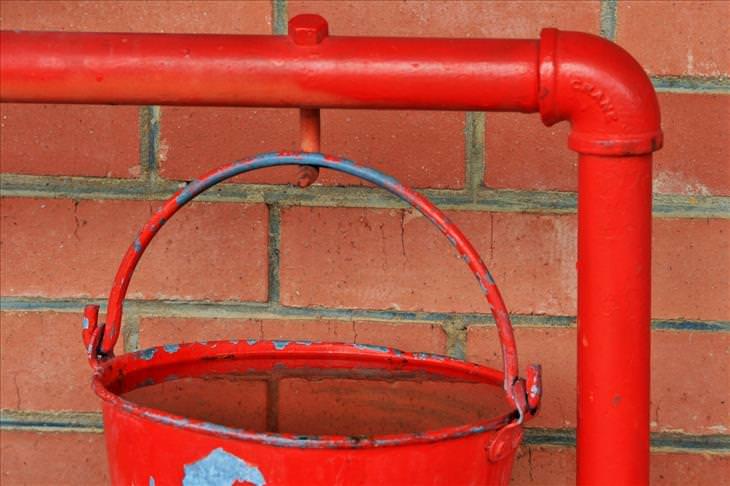 Firework safety: water bucket