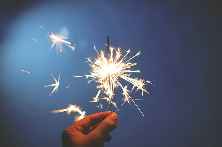 Firework safety: sparkler