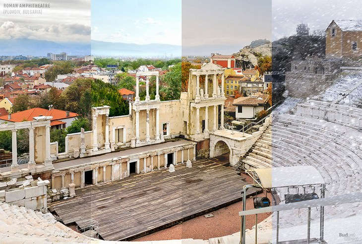 throughout the seasons places in the world The Roman Theater of Plovdiv, Plovdiv, Bulgaria