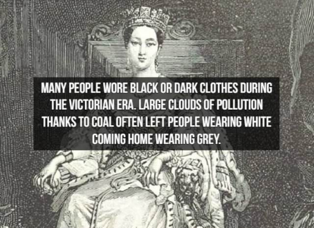 Facts about the Victorian Era black clothes