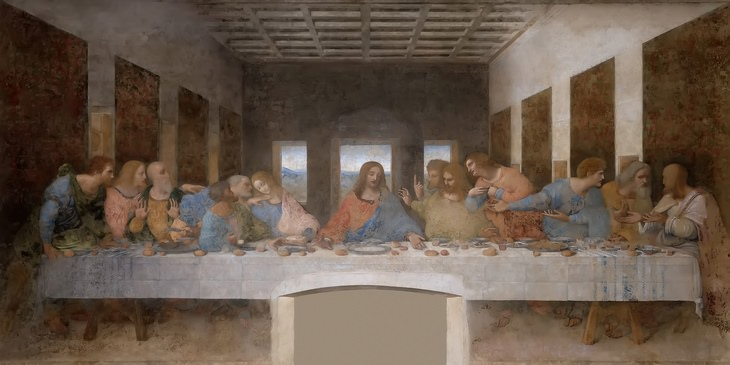 Biblical art: last supper