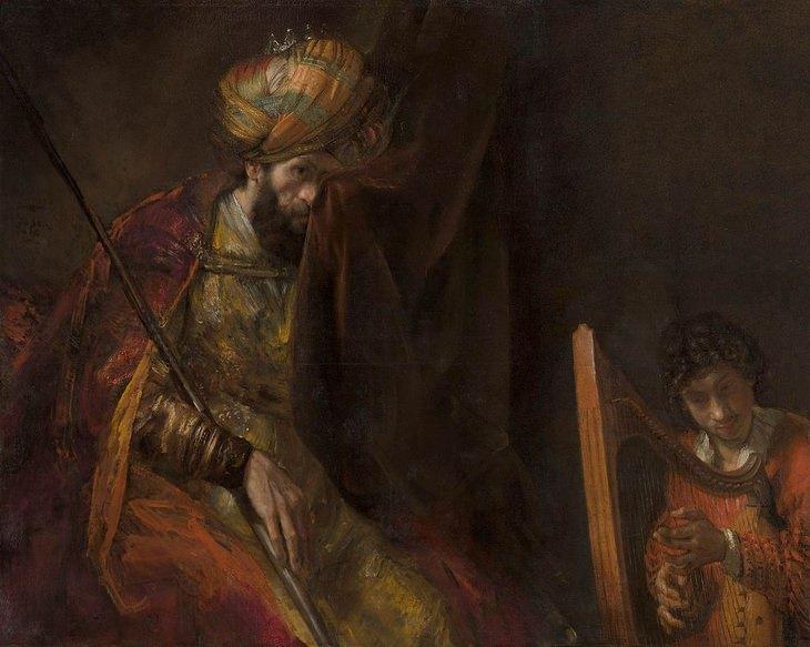Biblical art: Saul and David