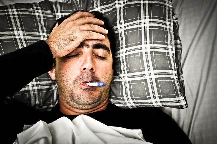 Man flu: bedridden