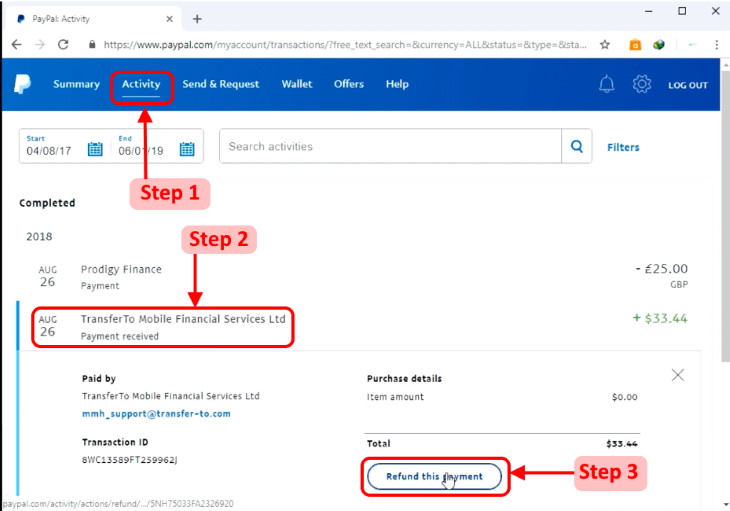 canceling payments and subscriptions on Paypal payment