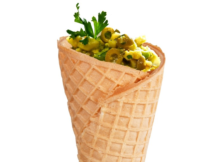 Ice Cream Cones: ceviche