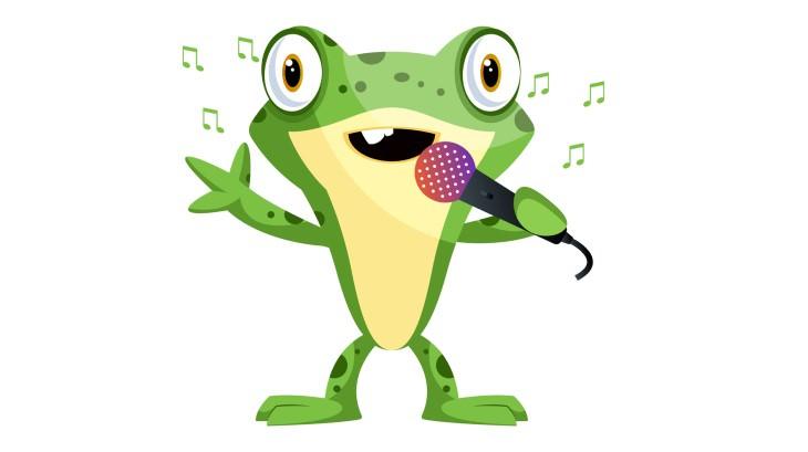 joke frog singing