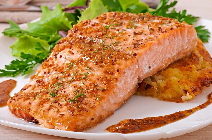Honey mustard salmon: recipe