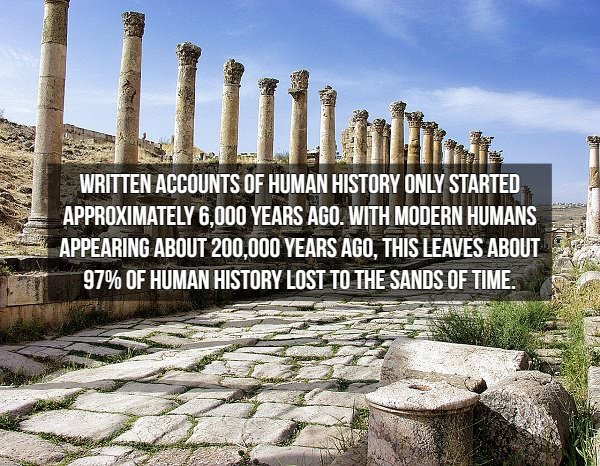 historical fact: written history