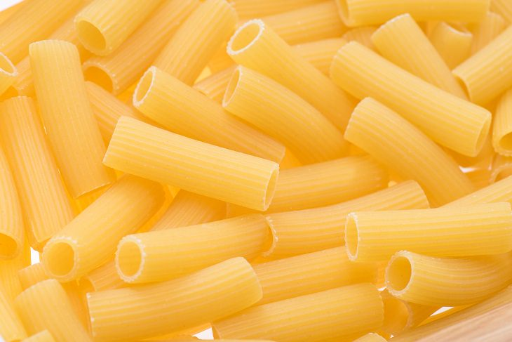 Pasta shapes: penne, rigatoni, macaroni