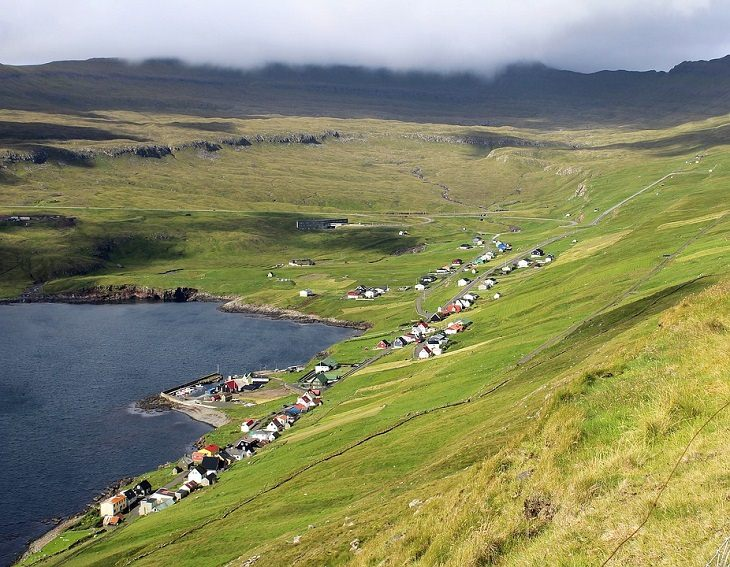 Faroe Islands bay village