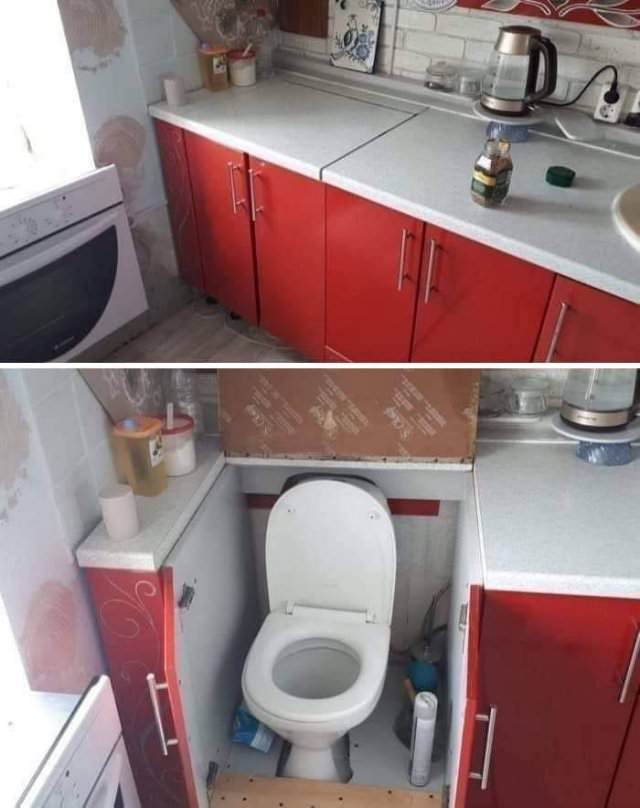 kitchen with bad designs