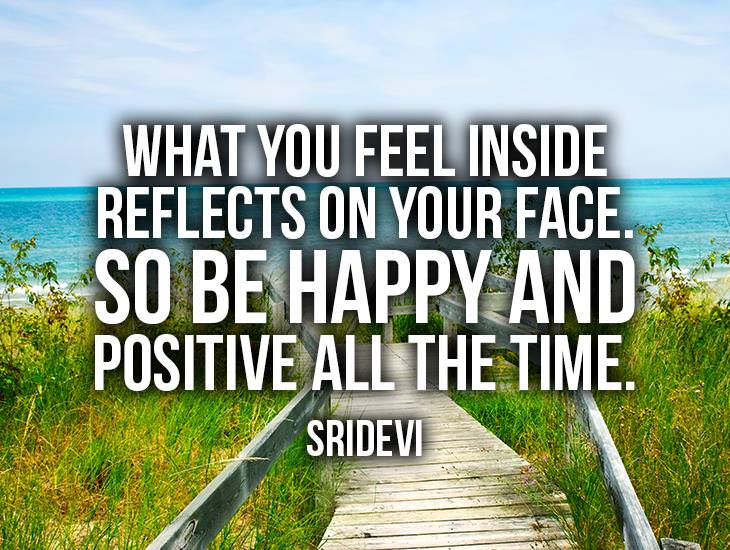 What You Feel Inside Reflects On Your Face