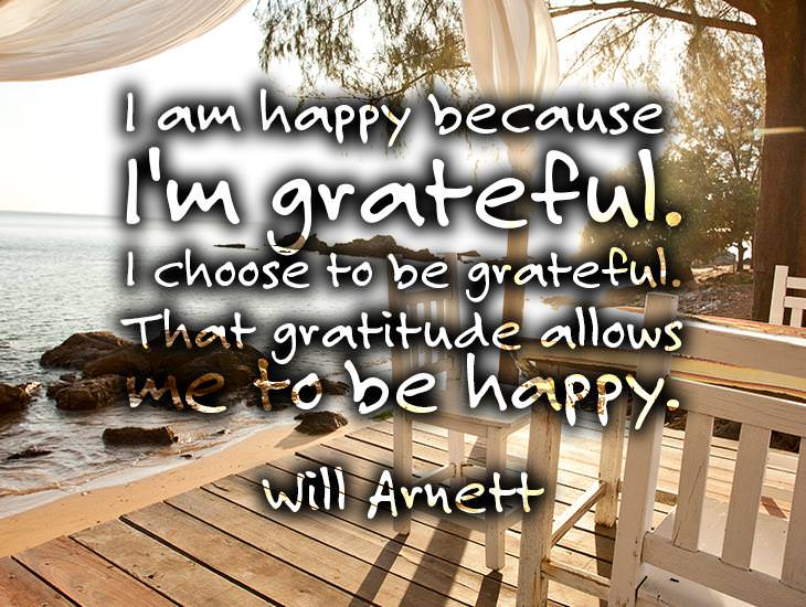 I Am Happy Because I'm Grateful