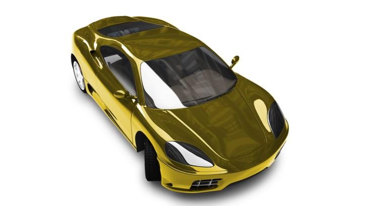 joke: gold Ferrari