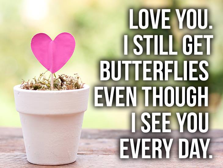 I Still Get Butterflies Even Though I See You Every Day
