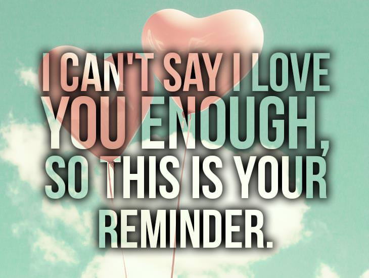 I Can't Say I Love You Enough