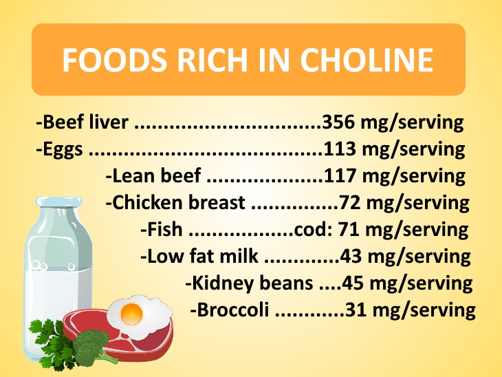 choline deficiency list of foods rich in choline