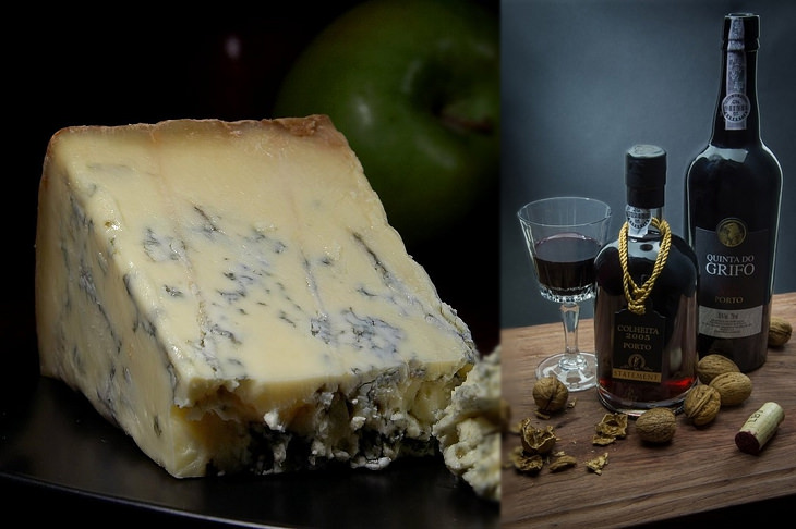Cheese and wine pairings: blue cheese and port