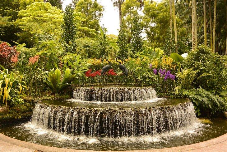 Beautiful gardens: Singapore Botanic Garden fountain