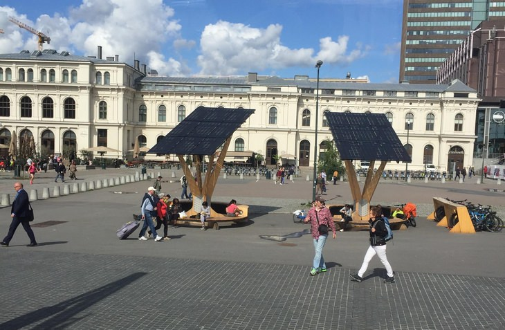 Scandinavia: solar charging station