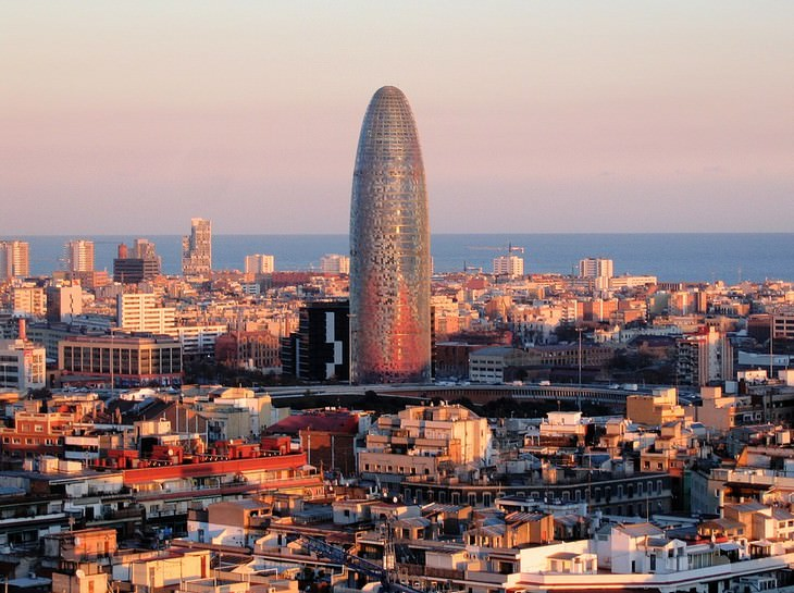 ugly buildings around the world Torre Glòries(Formerly Known as Torre Agbar) Bacrelona, Spain